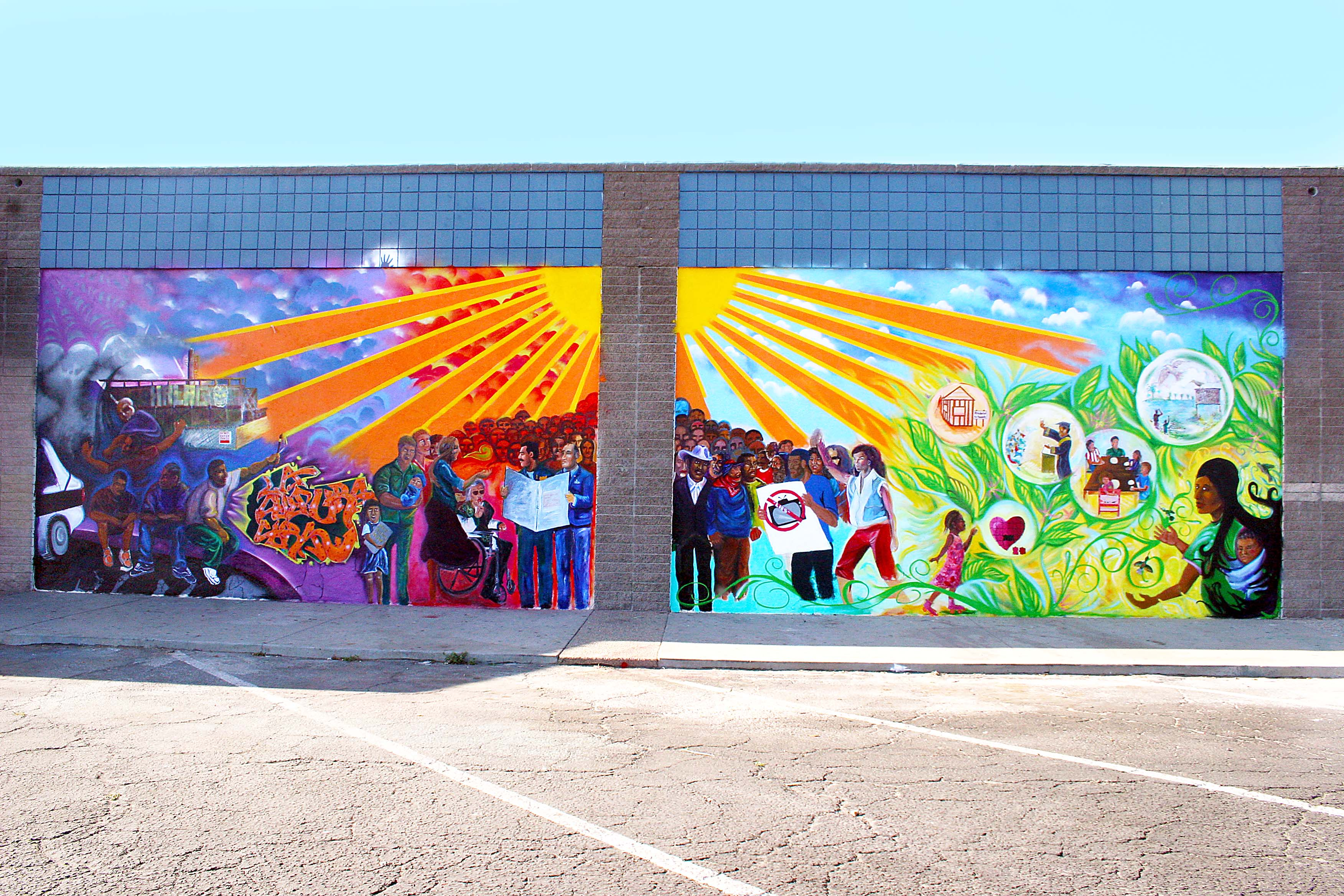 Paint not prison mural in south oxnard arts for action for Create a wall mural